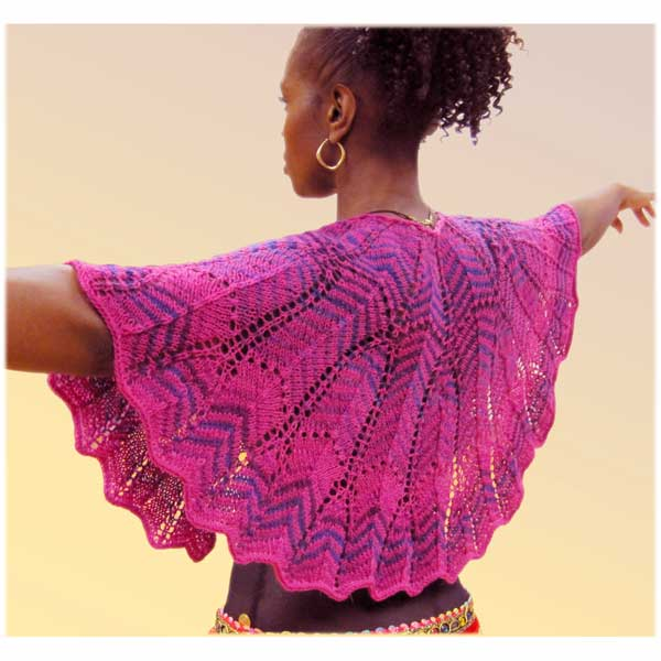 Colorama Crescent Shawl by LynnH